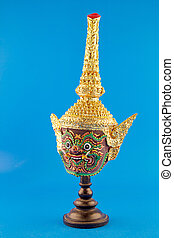 Hua Khon Thai Traditional Mask - Thai traditional dance of...
