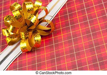 Gold ribbon and bow