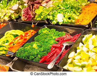 Buffet breakfast (smorgasbord) - Vegetables. Buffet...