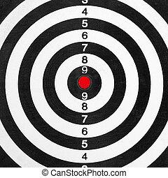 Shooting range target Closeup view
