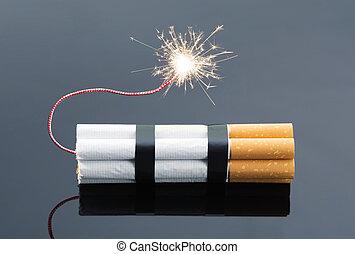 cigarros, explosivos