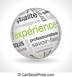 French experience theme sphere with keywords full vector