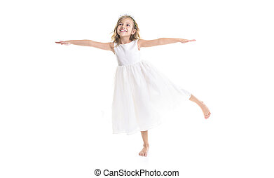 Little girl white dress - A Little girl wearing white dress...