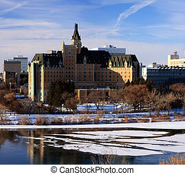 Cityscape in Winter - The Bessbourough Hotel and winter...