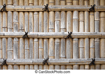 Bamboo fence in a Japanese garden