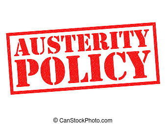 AUSTERITY POLICY red Rubber Stamp over a white background.