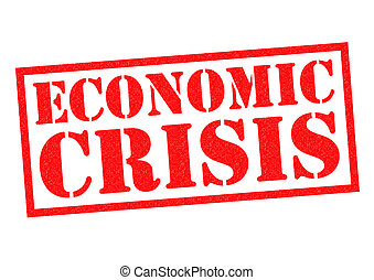 ECONOMIC CRISIS red Rubber Stamp over a white background.