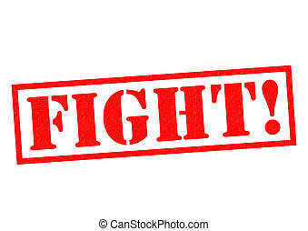 FIGHT! red Rubber Stamp over a white background.