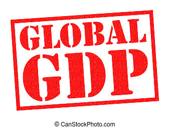 GLOBAL GDP red Rubber Stamp over a white background.