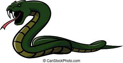 Green snake Illustration design
