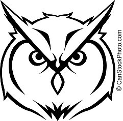 Owl head Illustration design