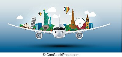 The concept travel the world - Illustration of The concept...