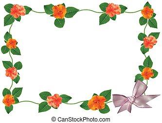 Floral frame postcard - Flowers illustration frame of fresh...