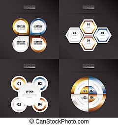 set of presentation design   gold, bronze, silver, blue color