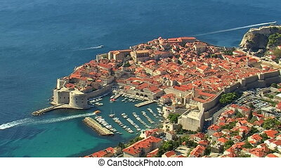 aerial view of dubrovnik, croatia
