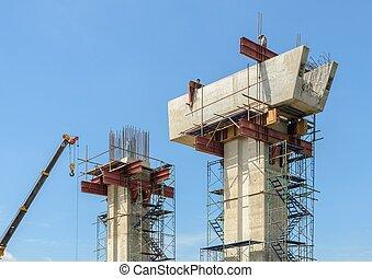 Construction of concrete bridge