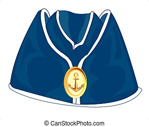 oversea cap.eps - Headdress of the sailor oversea cap on...