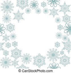 snowflake background - vector snowflake frame