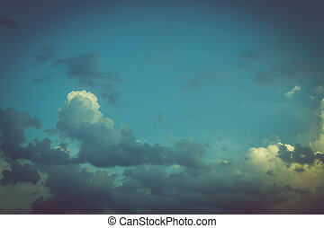 colorful vintage blue sky background