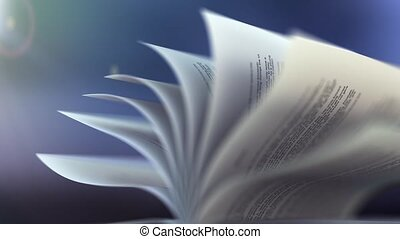 Book slow motion repeatly move - high quality 3d animation...