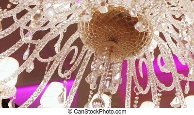 luxury crystal chandelier - Camera is rotated by large...