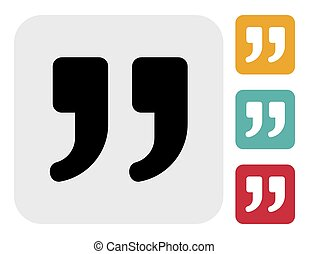 Quote vector icon - Vector illustrations of the Quote icon