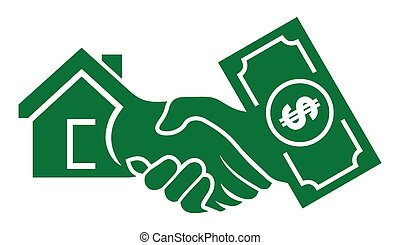 Cash For House - Vector illustrations of the Cash For House