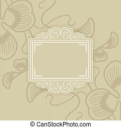 Background with a pattern vintage style with frame