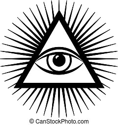 third eye - vector third eye sign