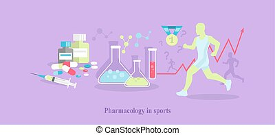 Pharmacology in Sport Icon Flat Isolated - Pharmacology in...