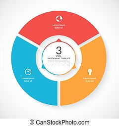 Vector infographic circle template
