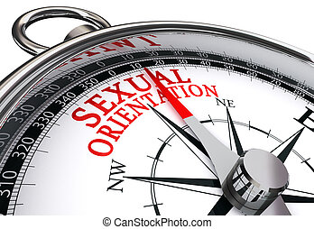sexual orientation concept compass isolated on white...