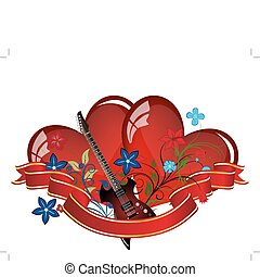 valentine card - Abstract Valentine\'s day card. Vector...