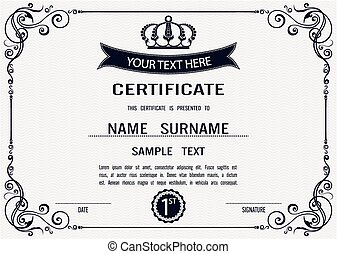 Vector certificate template - Charming Vector certificate...