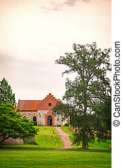 Nas church Sweden - Image of the church of Nas, located on...