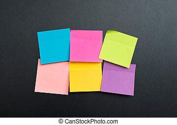 Blank multi color sticky notes