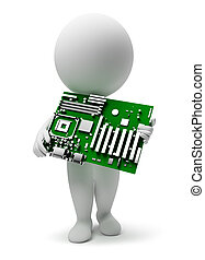 3d small people - motherboard - 3d small people with a...
