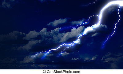 Lightning strike in the sky - Lightning strike on the dark...