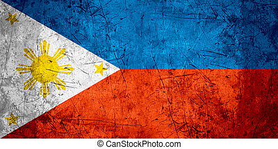 Philippines flag - flag of Philippines or Filipino banner on...