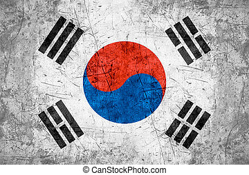South Korea flag - flag of South Korea or South Korean...
