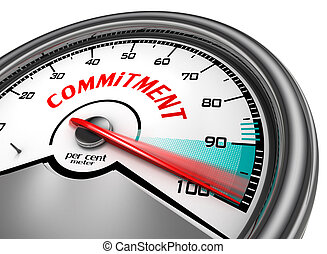 total commitment symbol concept with meter - commitment to...