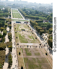 Aerial View on Champ de Mars and Invalides from the Eiffel...