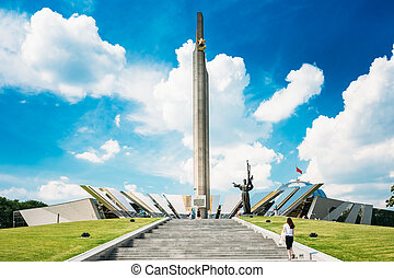 Monument Near Building Belorussian Museum Of The Great...