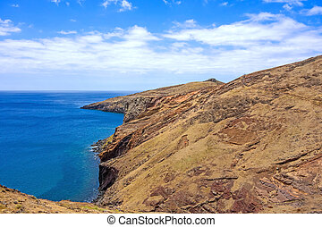 Madeira, bay at Ponta de Sao Lourenco - Mountainous...