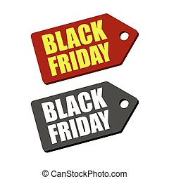 Black Friday Sales Tag Set Vector illustration