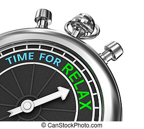 Time to relax, timepiece 3d concept , isolated