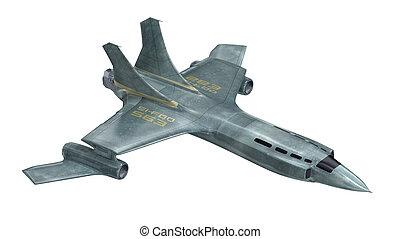 Future spaceship. 3D render. MY OWN DESIGN