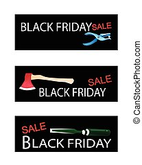 Craft Tools on Three Black Friday Banners - Illustration of...