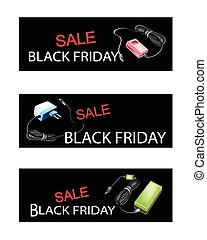 Adaptor Power Supply on Black Friday Sale Banners -...