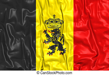 Government Ensign of Belgium - 3D Government Ensign of...